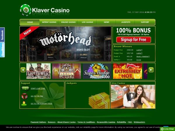 Klaver casino screenshot